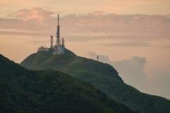 Varias torres de radio Fotografía de archivo libre de regalías
