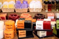 Colores de la vela Imagen de archivo libre de regalías