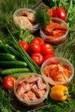Varias verduras frescas foto de archivo