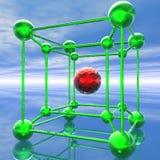 Variatie op moleculethema Stock Foto