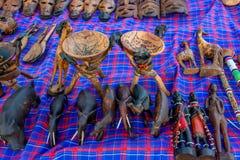 Variation av afrikanska souvenir Arkivbilder