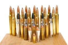 Variation av ammunitionar Arkivfoto