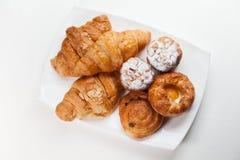 Variation av bageriprodukter Royaltyfri Fotografi