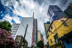 Variation av byggnader i Poblacion, Makati, tunnelbana Manila, phien Royaltyfri Bild