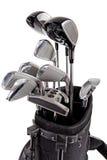 Variation av golfklubbar Arkivfoto