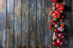 Variation av grönsaker royaltyfria bilder
