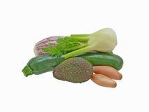 Grupp av isolerade grönsaker Royaltyfria Foton