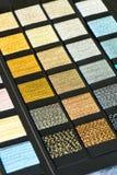 Variation av metalliska trådar på prövkopiabräde Arkivfoton