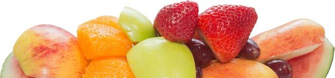 Variation av ny frukt som ordnar till för att äta Royaltyfria Bilder