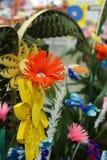 Variation av origamiblommor och bladhantverket Royaltyfria Bilder