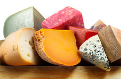 Variation av ost royaltyfri bild