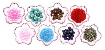 Variation av pärlor Royaltyfria Bilder
