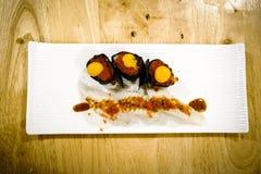 Variation av sushi Royaltyfri Fotografi