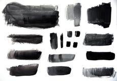 Variation av svarta slaglängder Arkivfoto