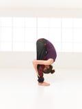 Variation of begginer yoga posture Stock Image