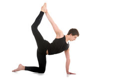 Variation of Chakravakasana Pose Stock Photo