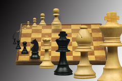 Variation on a chess game Royalty Free Stock Photos