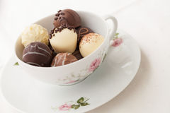 Variation of chocolate truffles Royalty Free Stock Images