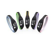 Variation de couleur des bracelets futés Photographie stock libre de droits