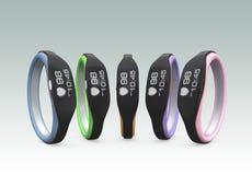 Variation de couleur des bracelets futés Photographie stock