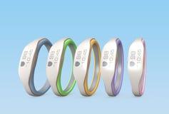 Variation de couleur des bracelets futés Photo libre de droits