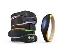 Variation de couleur des bracelets futés Image stock