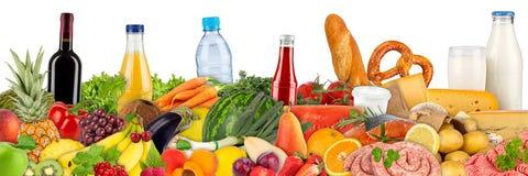 Variation de nourriture et de boissons images libres de droits