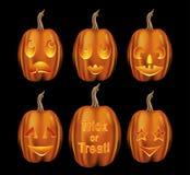 variation för halloween stålarlyktor o Royaltyfria Bilder