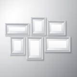 Variation för vit för bildramar Arkivfoton