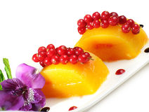 Variation of fresh fruits as dessert Stock Photo