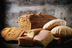 Variation of homemade bread Royalty Free Stock Images