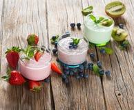 Variation milkshakes Royalty Free Stock Images