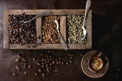 Variation Of Coffee Beans Royalty Free Stock Images