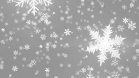 Snowy 1080p Crystal Snowflakes And Christmas Video Background Loop