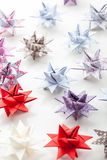 Variation of Paper Christmas stars Royalty Free Stock Photos