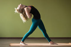 Variation of Standing Backward Bend Stock Photography