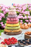 A bakery shop offer - garden party, French style. Royalty Free Stock Images