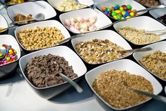 Variation of Sweets and Cereals Stock Photos