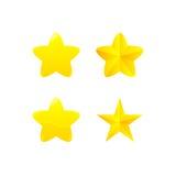 Variationer av den gula stjärnautmärkelsen Arkivfoto