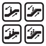 Variationer för rulltrappasymbol fyra Arkivfoto