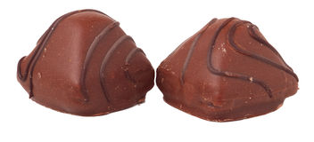 Variations of chocolated sweet pralines Royalty Free Stock Photo