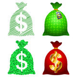 Variations Currency sack Dollar USD Royalty Free Stock Image