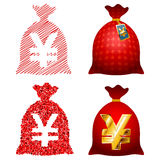 Variations Currency sack Yen JPY Royalty Free Stock Image