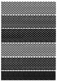 Variations de fibre de carbone Image stock