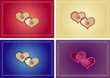 variations de lovecard Photographie stock libre de droits