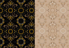 Variations delicate seamless pattern. Variations seamless background with a delicate pattern Royalty Free Stock Images