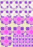 Variations of floral seamless background Stock Photography