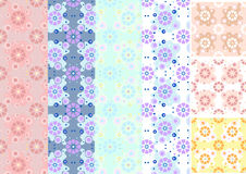 Variations of floral seamless background Stock Image