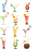 Variations in fruit and vegetable juices Stock Photography