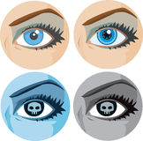 Variations of a girl's eye Stock Image